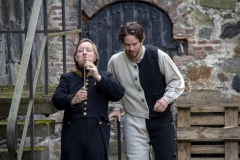 Årringer i Stein. Foto: Mette Haugland. Aktører: Robin Øverby / Elg Elgesem